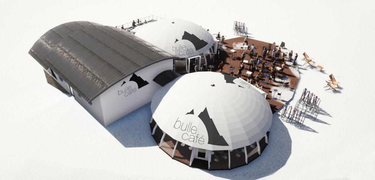 Arcs 2000 Bulle café projet - Ciel Architecture