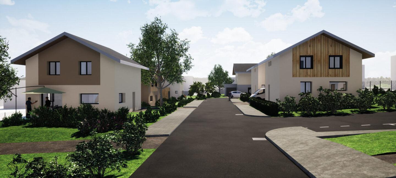 Clos Bacchus Albens Savoie Habitation Perspective - Ciel Architecture