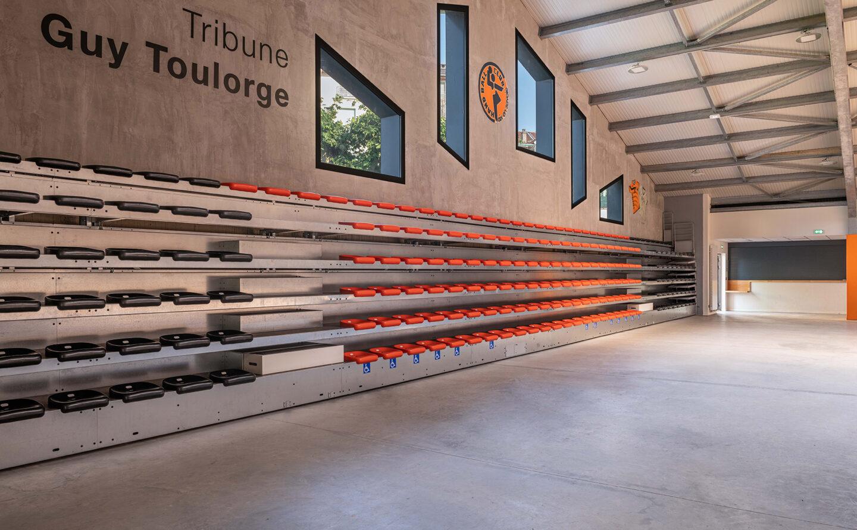 Gymnase Aix-les-Bains façade est - Ciel Architecture