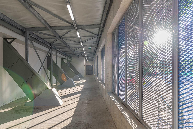 Gymnase Aix-les-Bains intérieur - Ciel Architecture