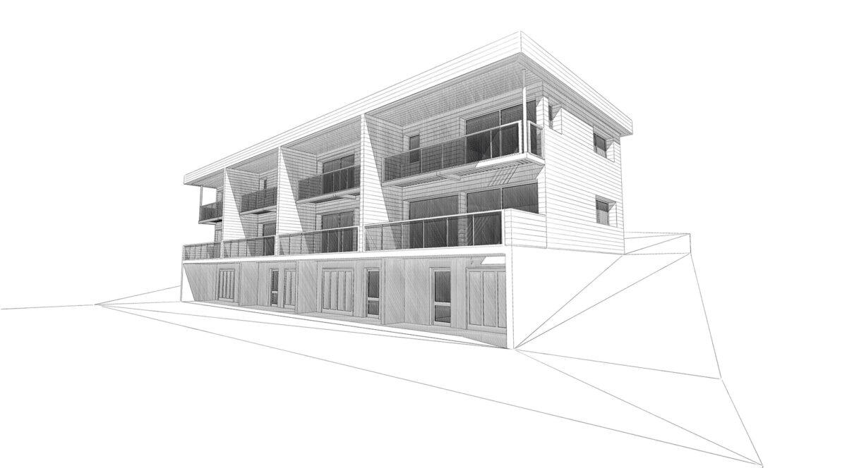 Logements Rehabilitation Leschaux Filaire Atelier Ciel Architecte