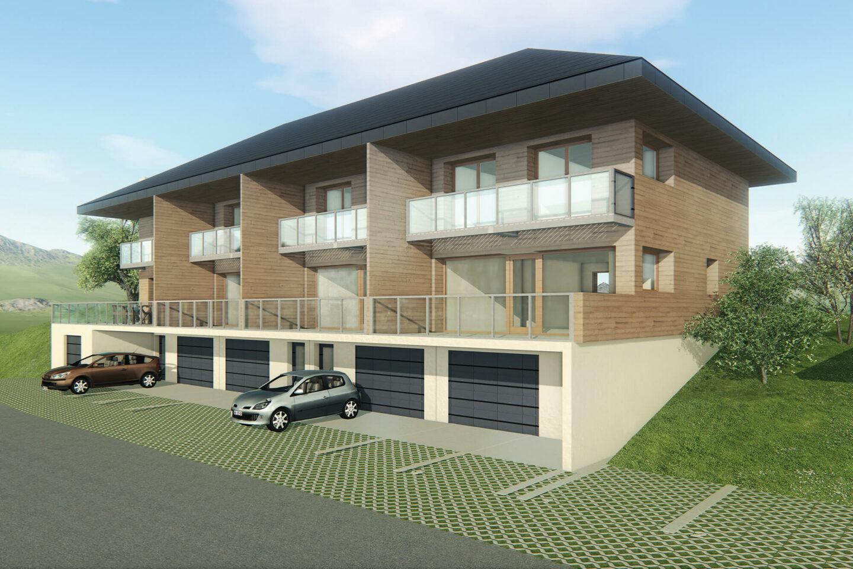 Logements Rehabilitation Leschaux Perspective Projet Vue 3D Atelier Ciel Architecte