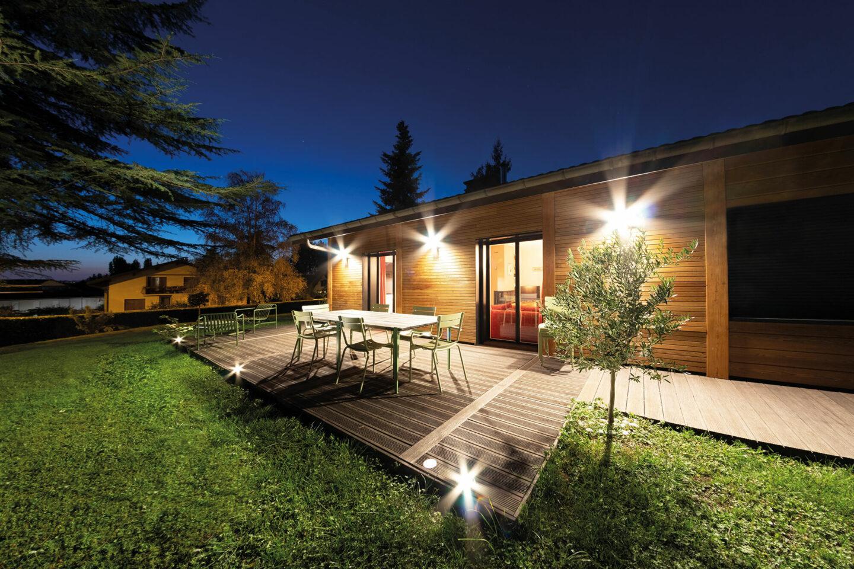 Renovation maison Annecy-Le-Vieux éclairage - Ciel Architecture
