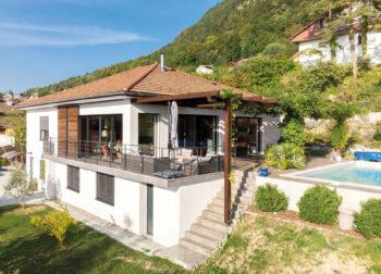 Particulier Annecy-le-Vieux rénovation Terrasse piscine - Ciel Architecture