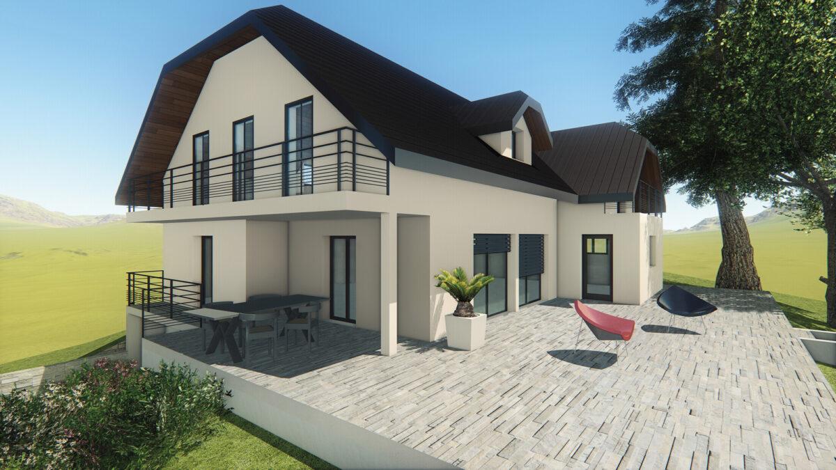 Rénovation maison - La Biolle - perspective - Ciel Architecture