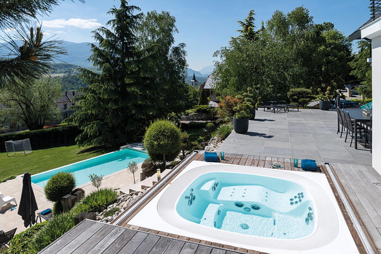 Rénovation maison - La Biolle - piscine - Ciel Architecture