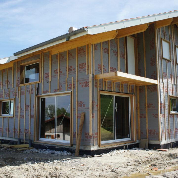 Maison Particulier Saint-Paul-Chablais chalet chantier - Ciel Architecture