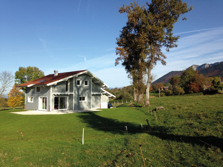 Maison Particulier Saint-Paul-Chablais chalet bois environnement - Ciel Architecture
