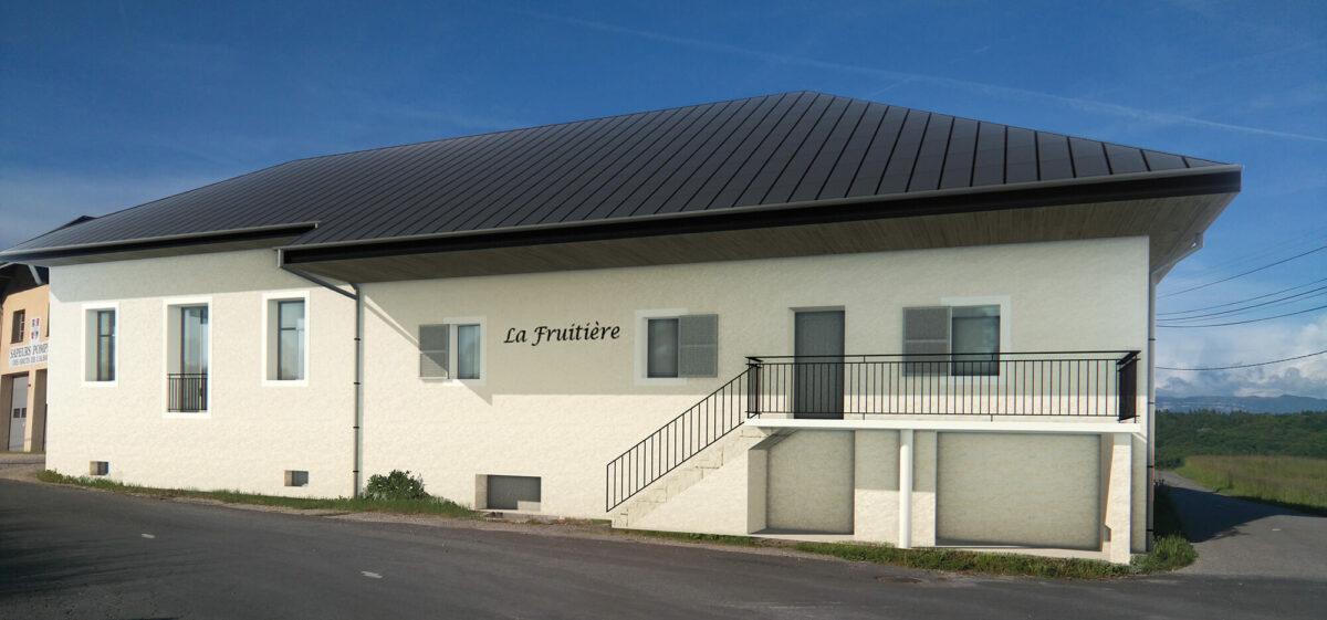 Réhabilitation Fruitière Cessens Perspective - Ciel Architecture