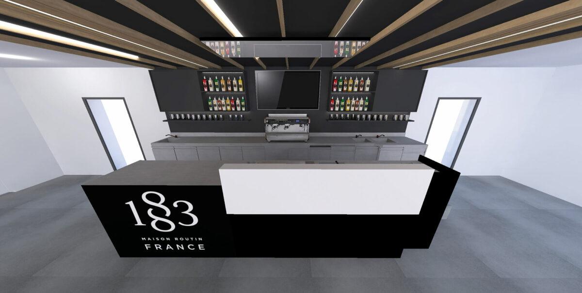 Routin La Motte Servolex lab bar - Ciel Architecture