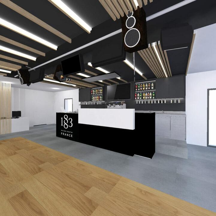 Routin La Motte Servolex lab salle de réception - Ciel Architecture