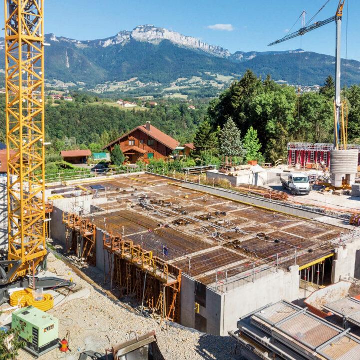 Atelier Ciel Architecte Terrasses Parmelan Neuf Collectif Chantier Vue Montagne
