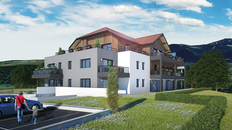 Atelier Ciel Architecte Terrasses Parmelan Neuf Collectif Perspective Simulation