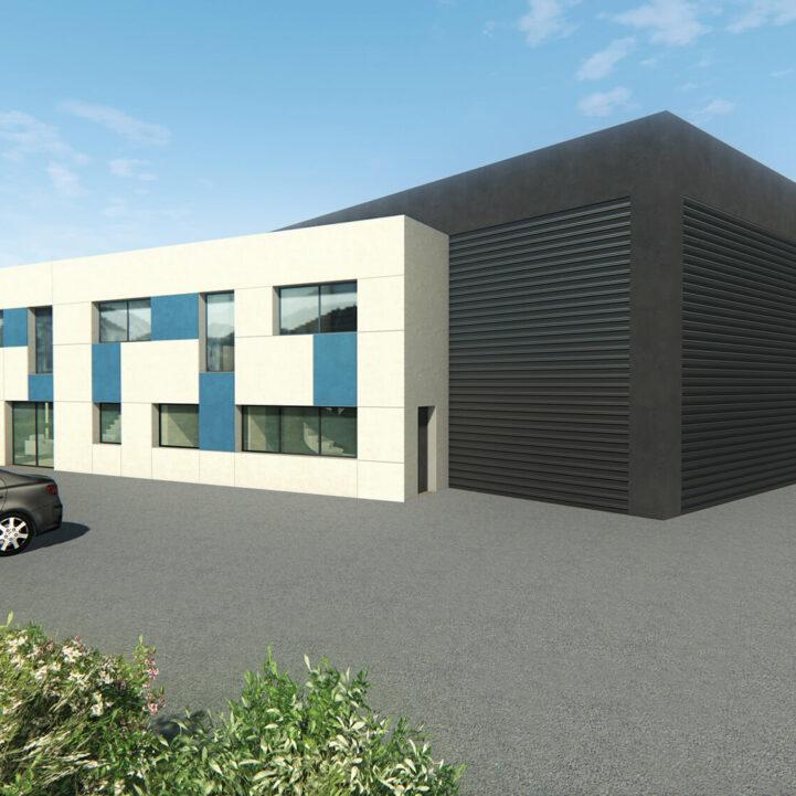 Tertiaire Local Artisanal La Balme 3D - Ciel Architecture