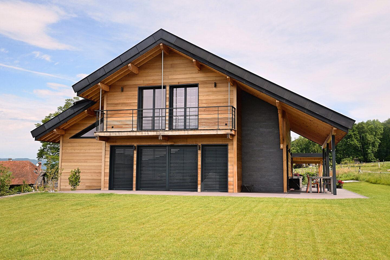 Chalet Maison Saint-Ours ossature bois Face - Ciel Architecture